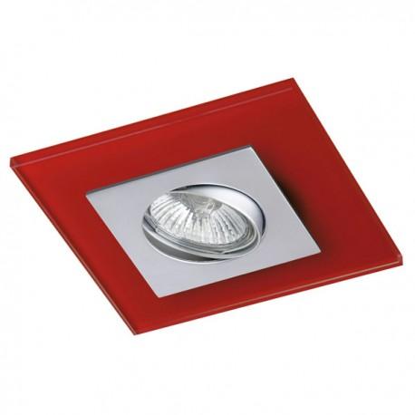 Zeta Steel Recessed Light – Red Glass