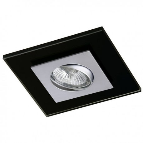 Zeta Steel Recessed Light – Black Glass