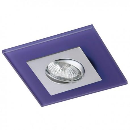 Zeta Steel Recessed Light – Purple Glass