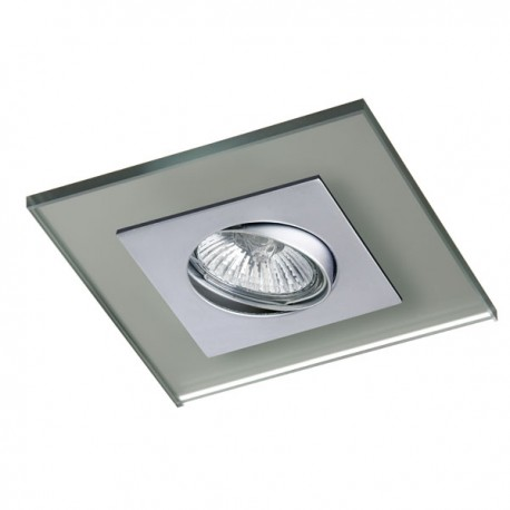 Zeta Steel Recessed Light – Silver Glass