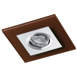 Class White Recessed Light – Brown Glass