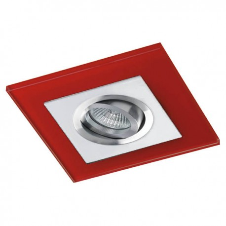 Class White Recessed Light – Red Glass