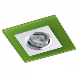 Class White Recessed Light – Green Glass