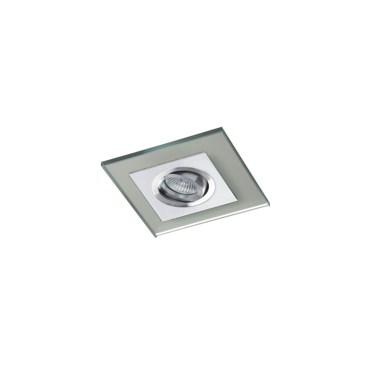 Class White Recessed Light Silver Glass