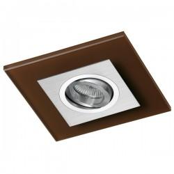 Class Aluminium Recessed Light – Brown Glass
