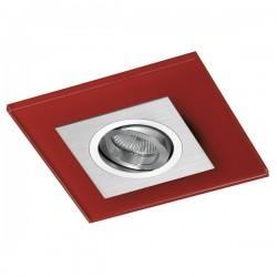 Class Aluminium Recessed Light – Red Glass