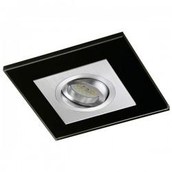 Class Aluminium Recessed Light – Black Glass