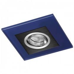 Class Black Recessed Light – Blue Glass