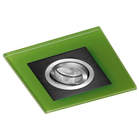 Class Black Recessed Light – Green Glass