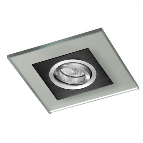 Class Black Recessed Light – Silver Glass
