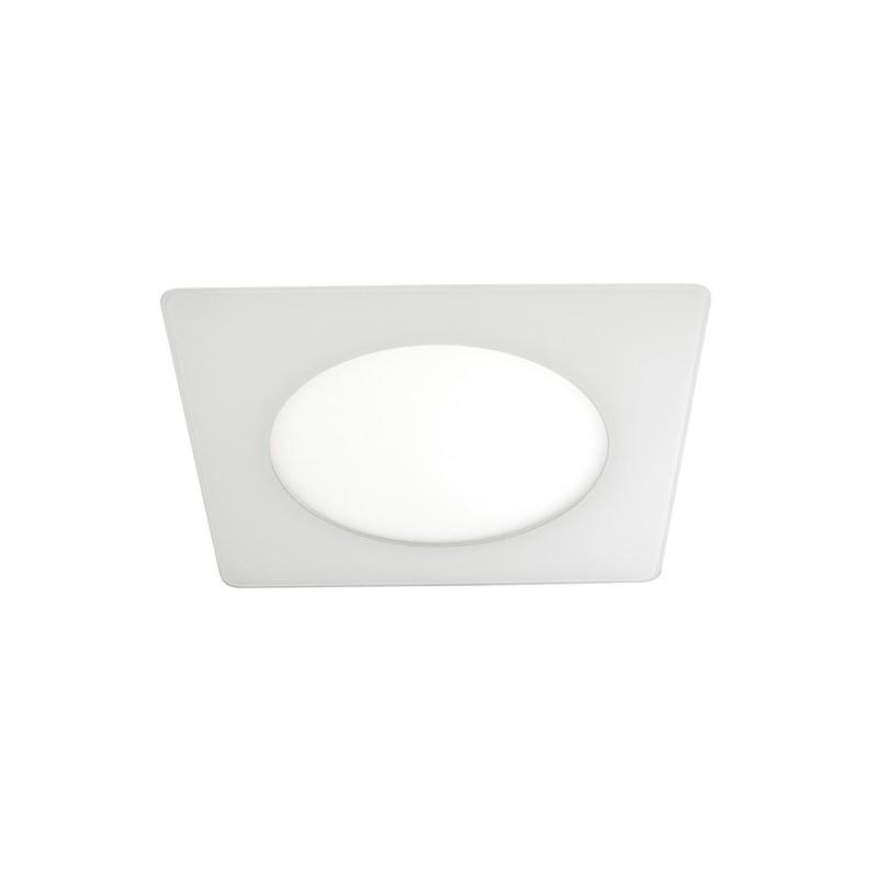 Novo Lux Led Downlight Sq 6w White Cristalrecord Led