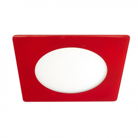 Novo Lux LED Downlight – SQ 12W – Red