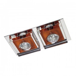Lunne Double Recessed Light – Orange