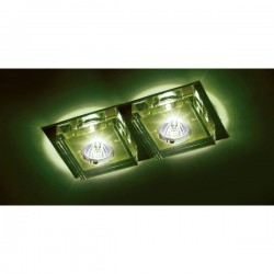 Lunne Double Recessed Light – Green