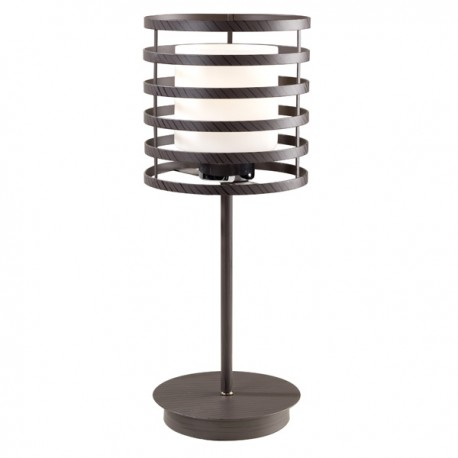 Cell Table Lamp – Wenge Cylinder