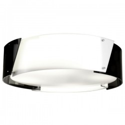 Argus Flush Ceiling Light – Black – 57cm.