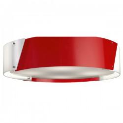 Argus Flush Ceiling Light – Red – 57cm.