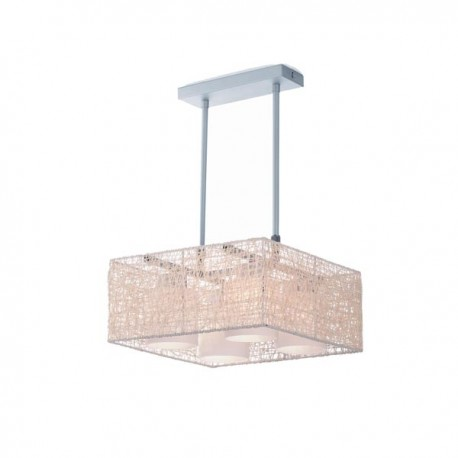 Alexandra Pendant Light – Beige – Square