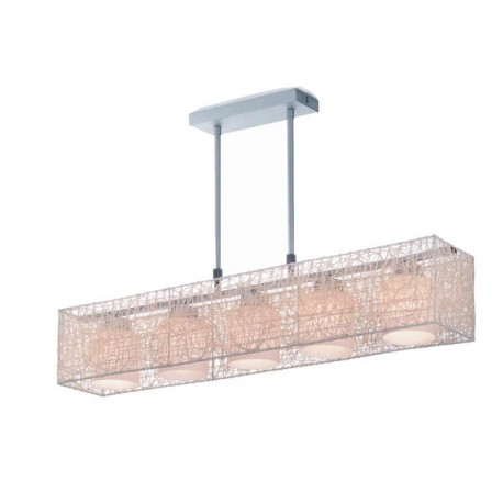 Alexandra Pendant Light – Beige – Rectangular