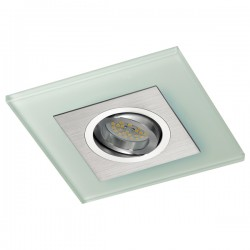 Iceberg Recessed LED Light - aluminium - blue LED (2,4W)