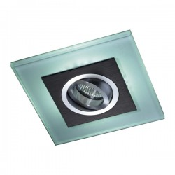 Iceberg Recessed LED Light - black - blue LED (2,4W)