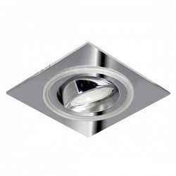 Aret Recessed LED Light - chrome - blue LED (2,4W)