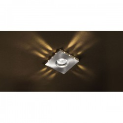 Romo Recessed LED Light – Nickel/Yellow LED