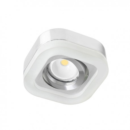 Fusion LED recessed light - chrome - cold light (2,4W)