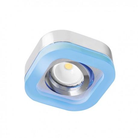 Empotrable Fusion cromo con LED azul de 2,4W