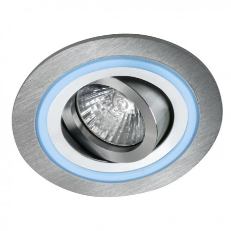 Aret Recessed LED Light - aluminium - blue LED (2,4W)