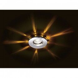 Romo Recessed LED Light – Chrome/Yellow LED