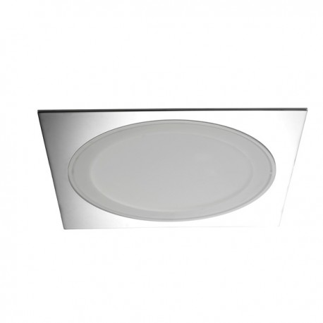 Downlight Led 6,5W+25W Aret cromo cuadrado