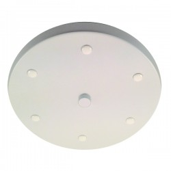 White Multi Outlet Ceiling Rose