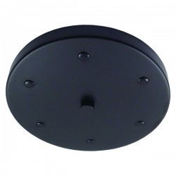Matte Black Multi Outlet Ceiling Rose
