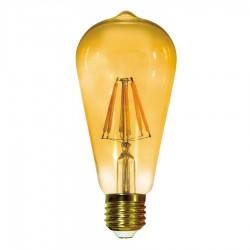 Bombilla Filamento LED ST64 E27 6W Caramelo