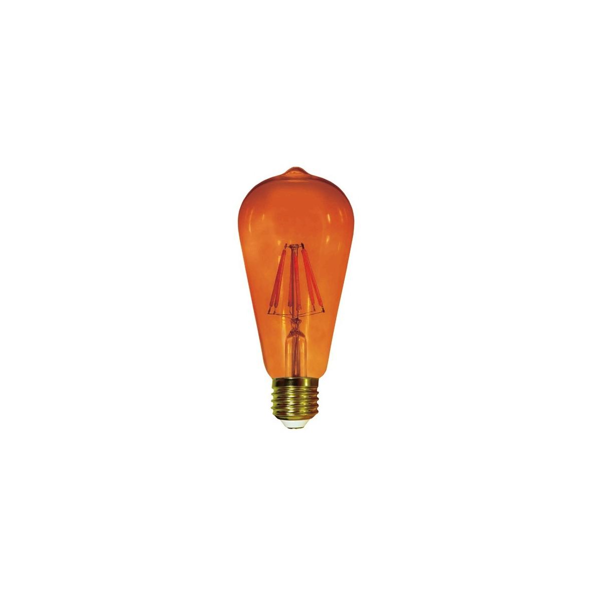 Bombilla Filamento LED ST64 E27 6W Ámbar
