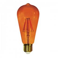 E27 Light Bulb ST64 Edison Amber 6W