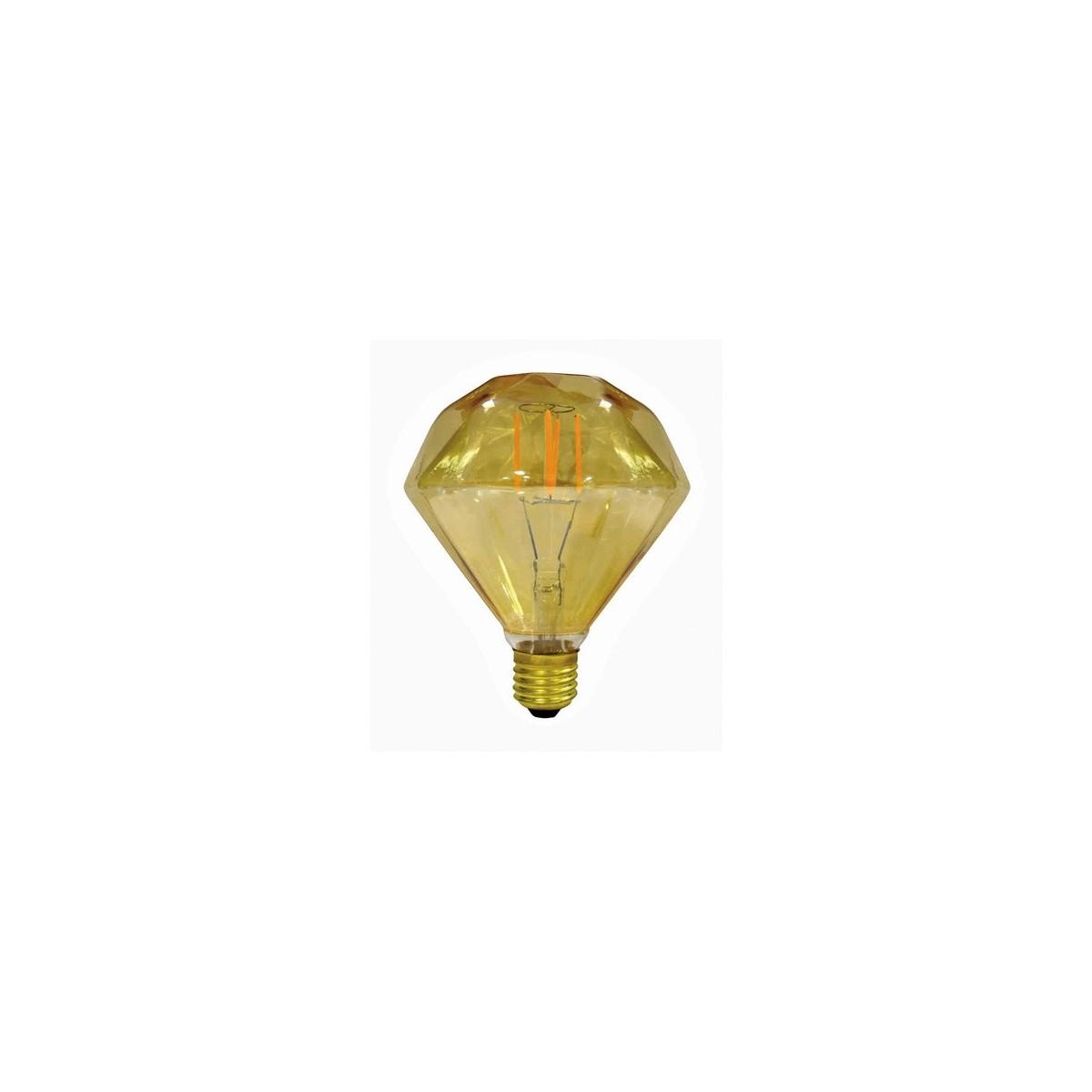 Bombilla Filamento LED Diamante E27 3,5W Caramelo