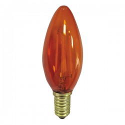 E14 Bulb C35 Candle Amber 4W