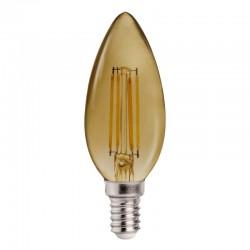 E14 Bulb C37 Candle Smoked 4W