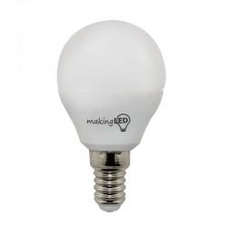 LED ESFERICA E14 4W 300LM 4200ºK