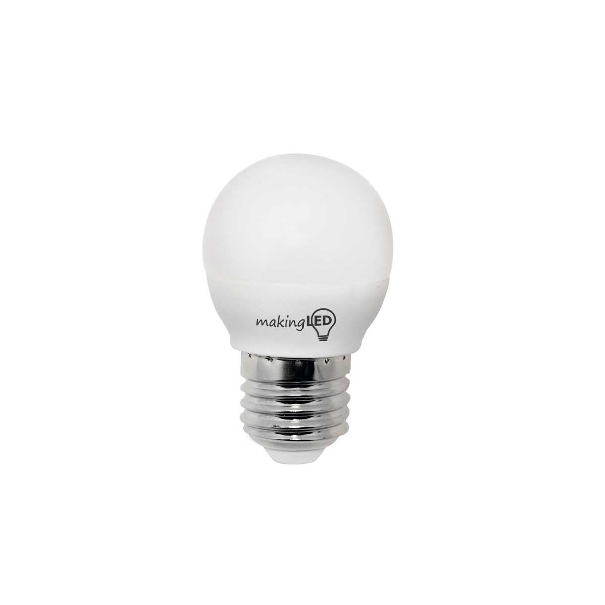 LED ESFERICA E27 4W 300LM 4200ºK