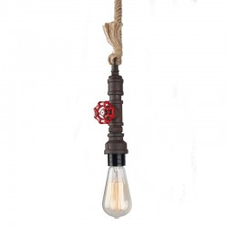 Key Vintage Pendant Lamp Holder – Black rust