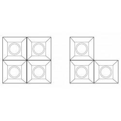 Empotrable Modular blanco