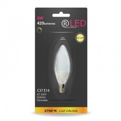 VELA LED E14 6W 420LM 4200ºK dimmable