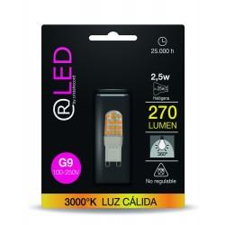 LED G9 2.5W 270LM 3000ºK