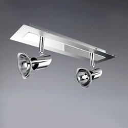 New Lug 2 Spotlight Ceiling Bar – Nickel/Chrome