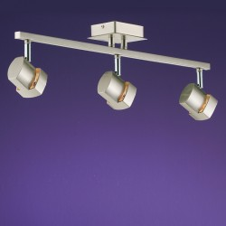 Moka 3 Spotlight Ceiling Bar – Nickel