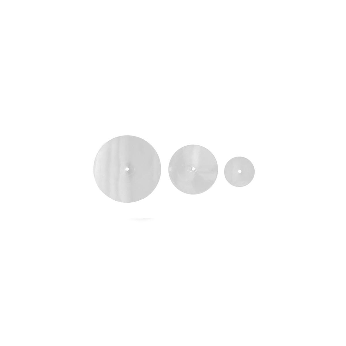 Pack de 3 Discos Blancos para Colgante Construct