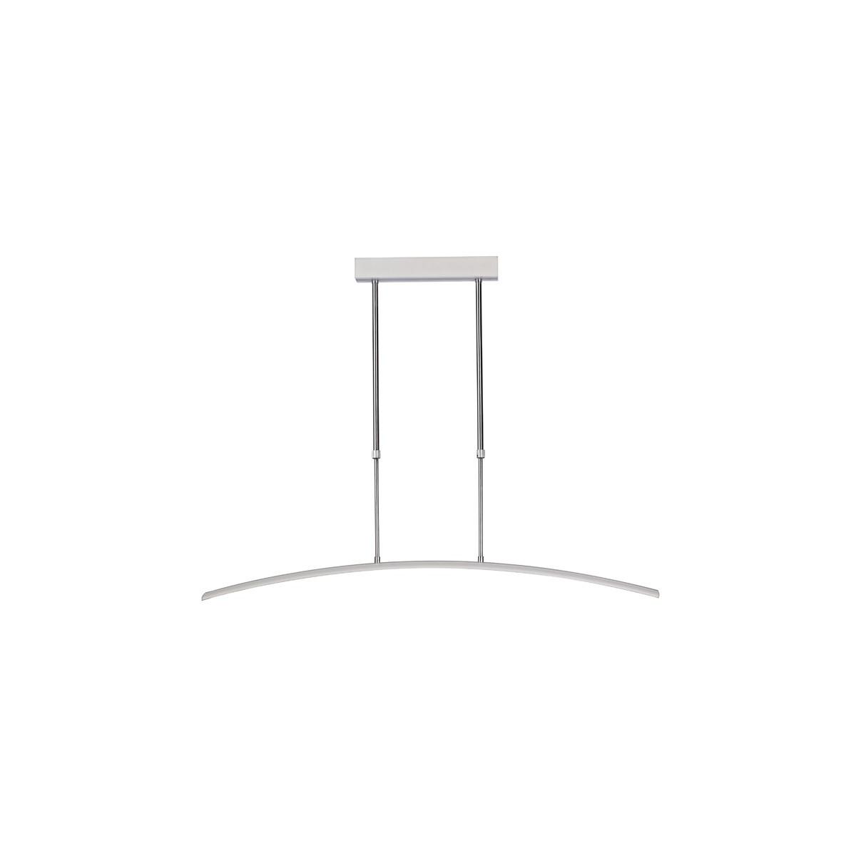 Lámpara Led gris curva Wanda
